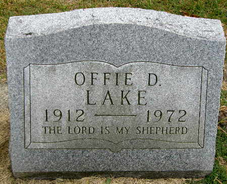 LAKE, OFFIE D. - Black Hawk County, Iowa | OFFIE D. LAKE