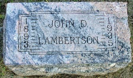 LAMBERTSON, JOHN D. - Black Hawk County, Iowa | JOHN D. LAMBERTSON