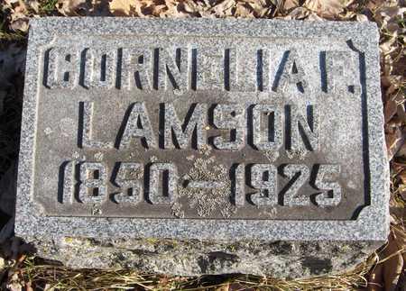 LAMSON, CORNELIA F. - Black Hawk County, Iowa | CORNELIA F. LAMSON