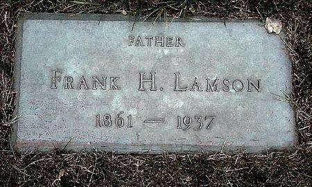 LAMSON, FRANK H. - Black Hawk County, Iowa   FRANK H. LAMSON