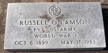 LAMSON, PVT. RUSSELL O. - Black Hawk County, Iowa | PVT. RUSSELL O. LAMSON