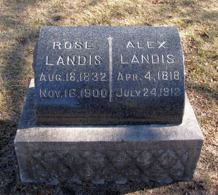 LANDIS, ALEX - Black Hawk County, Iowa | ALEX LANDIS