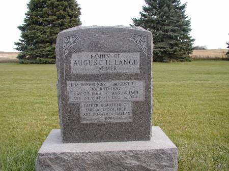 LANGE, AUGUST - Black Hawk County, Iowa | AUGUST LANGE