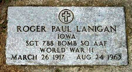 LANIGAN, ROGER PAUL - Black Hawk County, Iowa | ROGER PAUL LANIGAN