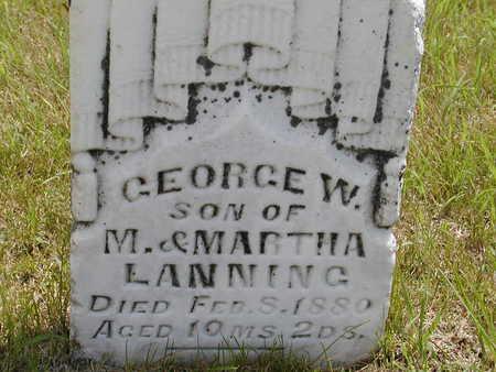 LANNING, GEORGE W. - Black Hawk County, Iowa | GEORGE W. LANNING