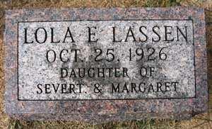 LASSEN, LOLA E. - Black Hawk County, Iowa | LOLA E. LASSEN