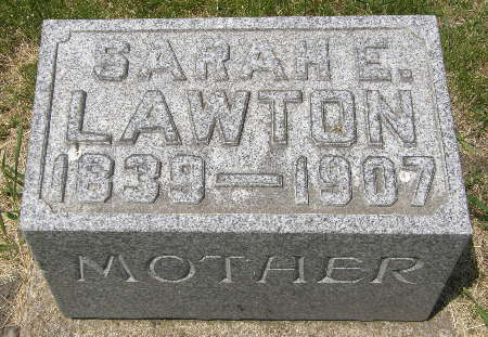 LAWTON, SARAH E. - Black Hawk County, Iowa | SARAH E. LAWTON
