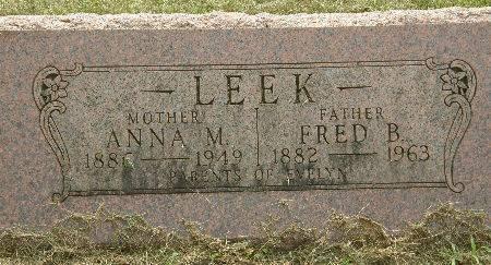 LEEK, FRED B. - Black Hawk County, Iowa | FRED B. LEEK