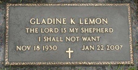 KRIZ LEMON, GLADINE KATHRYN - Black Hawk County, Iowa | GLADINE KATHRYN KRIZ LEMON