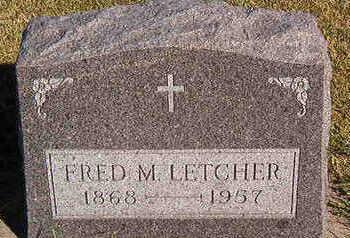 LETCHER, FRED M. - Black Hawk County, Iowa   FRED M. LETCHER