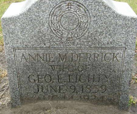 DERRICK LICHTY, ANNIE M. - Black Hawk County, Iowa | ANNIE M. DERRICK LICHTY