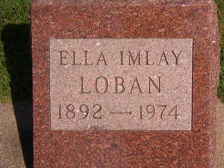 LOBAN, ELLA IMLAY - Black Hawk County, Iowa   ELLA IMLAY LOBAN