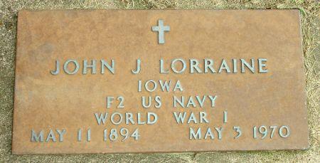 LORRAINE, JOHN J. - Black Hawk County, Iowa | JOHN J. LORRAINE