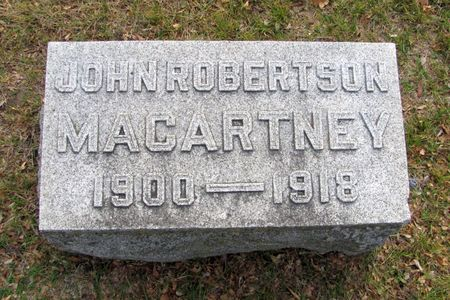 MACARTNEY, JOHN ROBERTSON - Black Hawk County, Iowa | JOHN ROBERTSON MACARTNEY