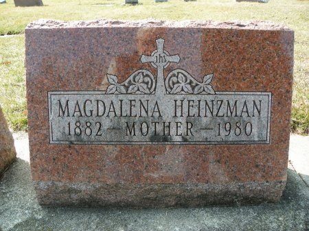 HEINZMAN, MAGDALENA - Black Hawk County, Iowa | MAGDALENA HEINZMAN