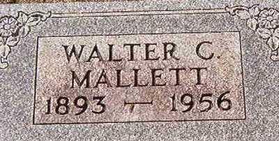MALLET, WALTER C. - Black Hawk County, Iowa | WALTER C. MALLET