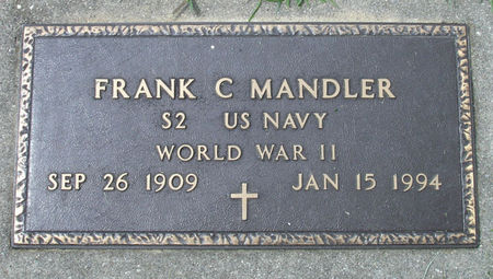 MANDLER - US NAVY, FRANK C. - Black Hawk County, Iowa | FRANK C. MANDLER - US NAVY