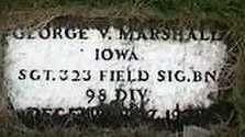 MARSHALL, GEORGE V. - Black Hawk County, Iowa | GEORGE V. MARSHALL