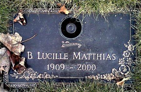 MATTHIAS, B. LUCILLE - Black Hawk County, Iowa   B. LUCILLE MATTHIAS