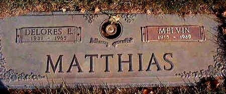 MATTHIAS, DELORES E. - Black Hawk County, Iowa | DELORES E. MATTHIAS