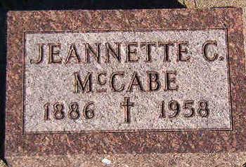 MCCABE, JEANNETTE C. - Black Hawk County, Iowa | JEANNETTE C. MCCABE