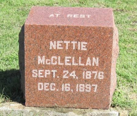 MCCLELLAN, NETTIE - Black Hawk County, Iowa | NETTIE MCCLELLAN