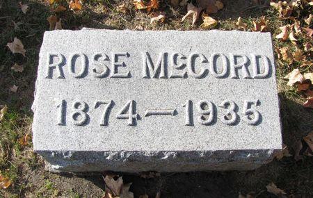 MCCORD, ROSE - Black Hawk County, Iowa   ROSE MCCORD