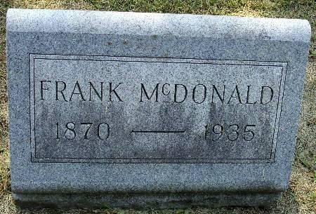 MCDONALD, FRANK - Black Hawk County, Iowa   FRANK MCDONALD