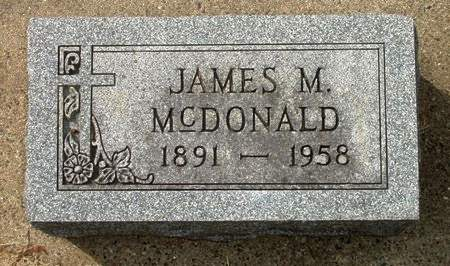 MCDONALD, JAMES MARVIN - Black Hawk County, Iowa | JAMES MARVIN MCDONALD