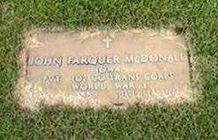 MCDONALD, JOHN FARQUER - Black Hawk County, Iowa | JOHN FARQUER MCDONALD