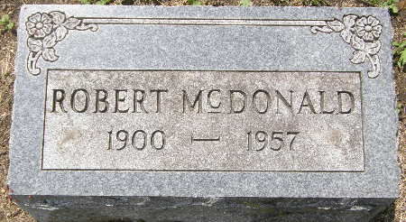 MCDONALD, ROBERT - Black Hawk County, Iowa | ROBERT MCDONALD
