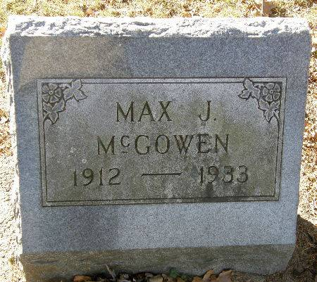MCGOWEN, MAX J. - Black Hawk County, Iowa | MAX J. MCGOWEN
