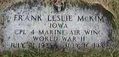 MCKIM, FRANK LESLIE - Black Hawk County, Iowa | FRANK LESLIE MCKIM