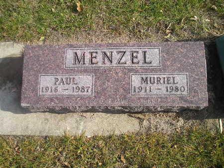 MENZEL, PAUL - Black Hawk County, Iowa   PAUL MENZEL
