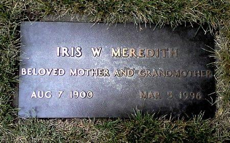 MEREDITH, IRIS W. - Black Hawk County, Iowa | IRIS W. MEREDITH