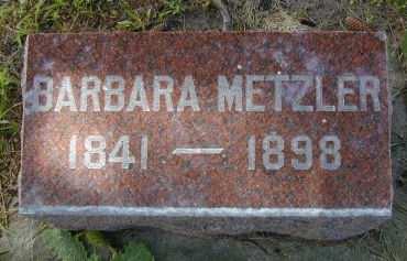 METZLER, BARBARA - Black Hawk County, Iowa   BARBARA METZLER