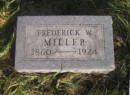 MILLER, FREDERICK W - Black Hawk County, Iowa | FREDERICK W MILLER