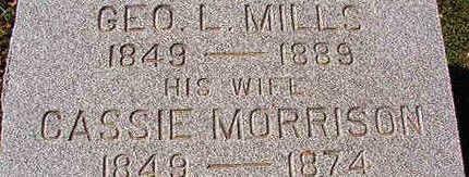 MILLS, GEORGE L. - Black Hawk County, Iowa | GEORGE L. MILLS