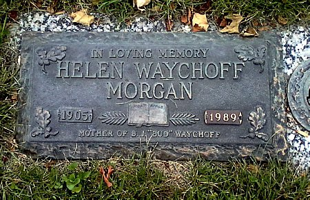 WAYCHOFF MORGAN, HELEN - Black Hawk County, Iowa   HELEN WAYCHOFF MORGAN