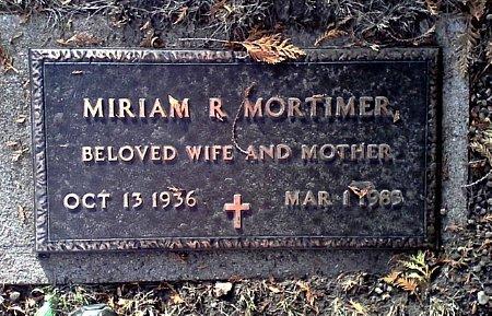 MORTIMER, MIRIAM R. - Black Hawk County, Iowa | MIRIAM R. MORTIMER
