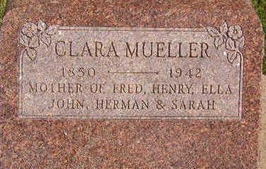MUELLER, CLARA - Black Hawk County, Iowa | CLARA MUELLER
