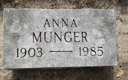 MUNGER, ANNA - Black Hawk County, Iowa | ANNA MUNGER