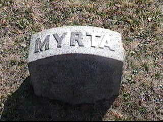 MYRTA, FAMILY STONE - Black Hawk County, Iowa | FAMILY STONE MYRTA