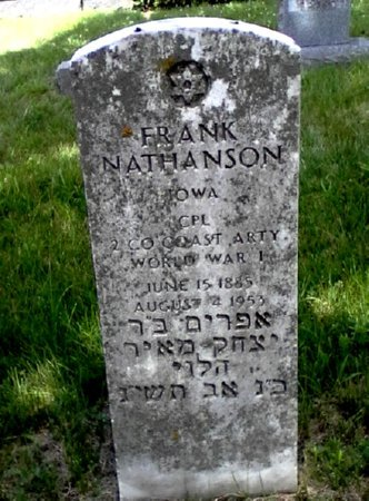 NATHANSON, FRANK - Black Hawk County, Iowa | FRANK NATHANSON