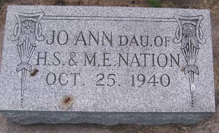 NATION, JO ANN - Black Hawk County, Iowa   JO ANN NATION