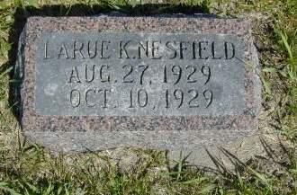 NESFIELD, LARUE KATHLEEN - Black Hawk County, Iowa | LARUE KATHLEEN NESFIELD