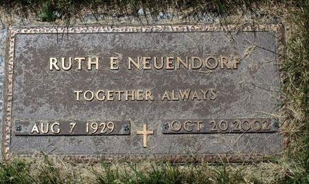 NEUENDORF, RUTH E. - Black Hawk County, Iowa   RUTH E. NEUENDORF