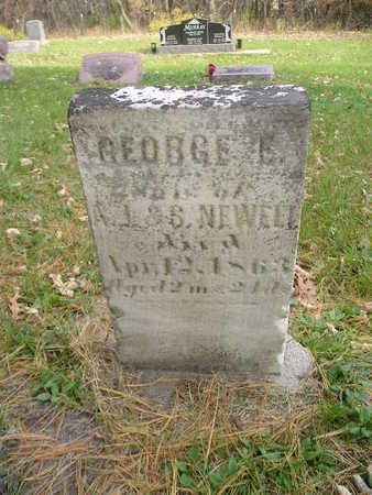 NEWELL, GEORGE E - Black Hawk County, Iowa   GEORGE E NEWELL