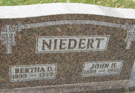 NIEDERT, JOHN H. - Black Hawk County, Iowa | JOHN H. NIEDERT