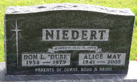 NIEDERT, ALICE MAY - Black Hawk County, Iowa | ALICE MAY NIEDERT